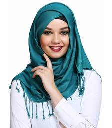 Viscose Turquoise plain hijab