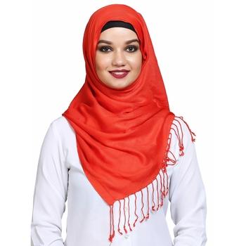 Viscose Orange plain hijab