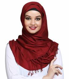 Viscose Red plain hijab