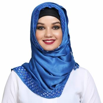 Viscose Blue plain hijab
