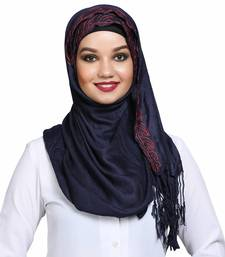 Viscose Blue embroidered hijab