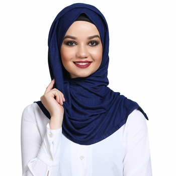 Viscose Blue plain hijab