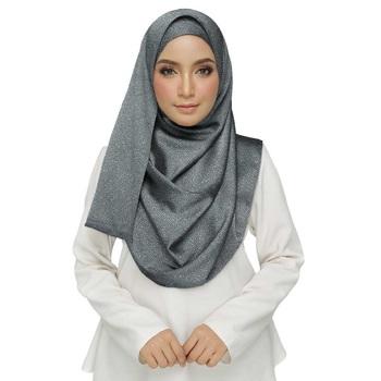 Grey  viscose Islamic Style Stole Daily Wear Arabian Hijab