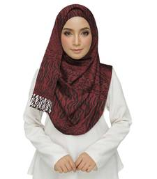 Maroon  cotton Islamic Style Stole Daily Wear Arabian Hijab