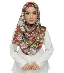 Red  cotton Islamic Style Stole Daily Wear Arabian Hijab