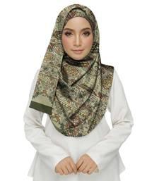 Green  cotton Islamic Style Stole Daily Wear Arabian Hijab