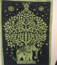 elephant tree Green Color tapestry Poster