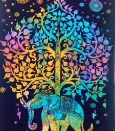 elephant tree Multi Color tapestry Poster