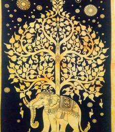 elephant tree Yellow Color tapestry Poster