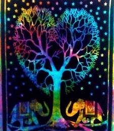 Heart tree Multi Color Tapestry Poster