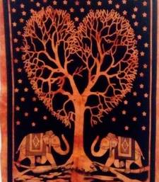 Heart tree Orange Color Tapestry Poster