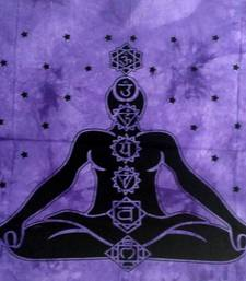 Seven Chakra Purple Color Tapestry Poster