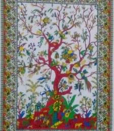 tree Of Life Blue Color Tapestry Poster
