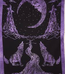 The Moon Purple Color Tapestry Poster