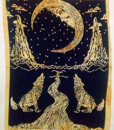 The Moon Yellow Color Tapestry Poster
