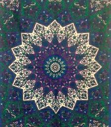 Flower Print Mandala Brown Color Tapestry Poster