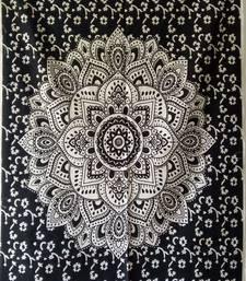 Omber Mandala White Color Tapestry Poster