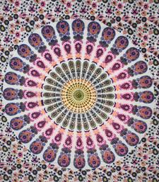 Mandala Purple Color Tapestry Poster