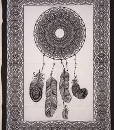 Dream Catcher White Color Tapestry Poster
