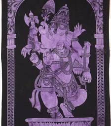 Lord Ganesha Purple Color Tapestry Poster