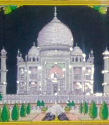 Taj mahal White Color Small Tapestry Poster
