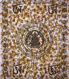 Buddha Lord yellow Color Tapestry Poster