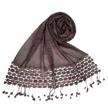 Purple Premium Cotton Fabric embroidered hijab