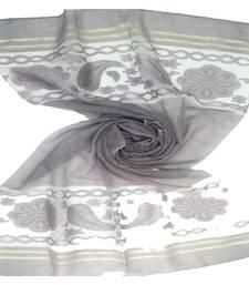 Purple  Premium Tissue Fabric embroidered hijab
