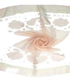 Orange  Premium Tissue Fabric embroidered hijab