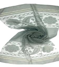 Green  Premium Tissue Fabric embroidered hijab