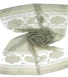 Brown  Premium Tissue Fabric embroidered hijab
