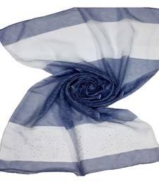 Blue Premium Tissue Fabric embroidered hijab