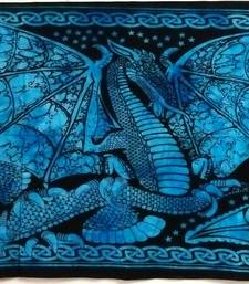 Dragon Blue Color Tapestry Poster