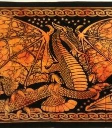Dragon Orange Color Tapestry Poster