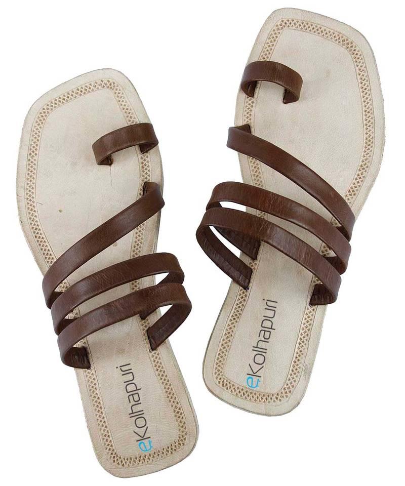 KALAPURI Attractive Authentic Handmade Genuine Leather/Kolhapuri Sandal for Women