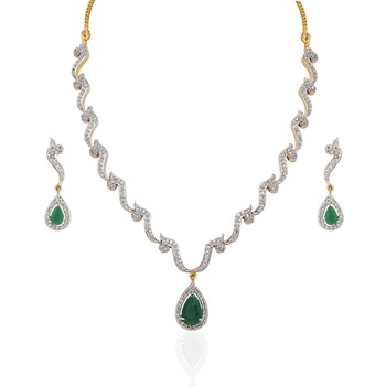 Heena Trendy Collection Necklace Set >> HJNL63G <<