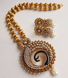 LOVELY ANTIQUE PEARL EACOCK NECKLACE SET-DJ02790