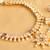 Beautiful Gold Plated Polki Purple Necklace Set