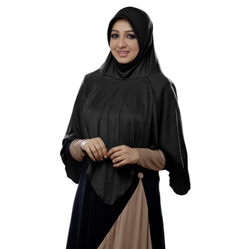 Mehar Hijab Women's Modestly Stylish Look Nabah Hijab Black