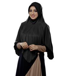 black cotton_poly islamic hijab