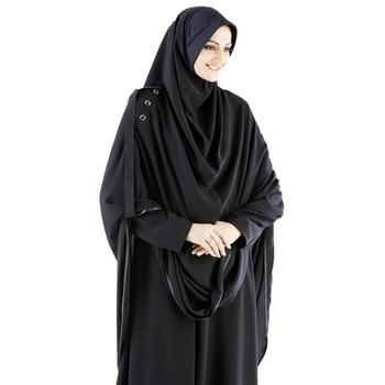 black crepe islamic hijab