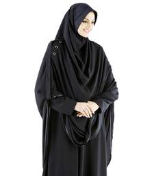 black crepe islamic hijab