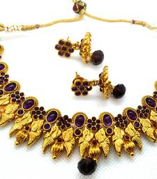 Purple agate south indian jewellery