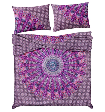 Psychedelic Star Mandala Comforter Quilt Cover Double Bedding Throw Indian Duvet Cover & Pillow Case Bohemian Throw