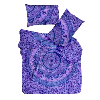 Psychedelic Ombre Mandala Tie Dye Quilt Cover Comforter Double Bedding Indian Duvet Cover & Pillow Case Bohemian Throw
