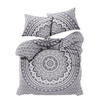 Psychedelic Mandala Comforter Cover Double Bedding Throw Indian Duvet Cover & Pillow Case Bohemian Throw