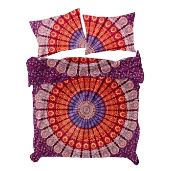 Psychedelic Mandala Comforter Quilt Cover Double Bedding Throw Indian Duvet Cover & Pillow Case Bohemian Throw