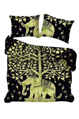 Psychedelic Mandala Comforter Cover Tree of life Bedding Throw Indian Elephant Duvet Cover & Pillow Case Bohemian Throw