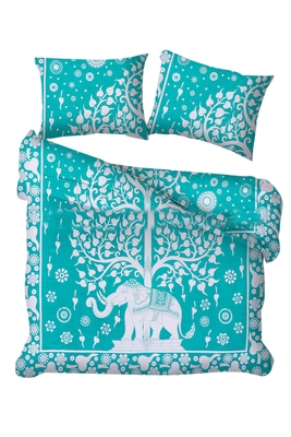 Indian tie dye tree of life Duvet Cover Indian Cotton Throw Doona Cover Blanket Set Comforter Set With Pilow Cover