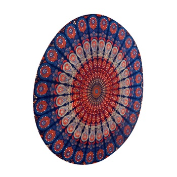 Indian Mandala Roundie Beach Throw Tapestry Hippy Gypsy Cotton Table Covers Hippie Boho Yoga Mat Bohemian Spread Cover